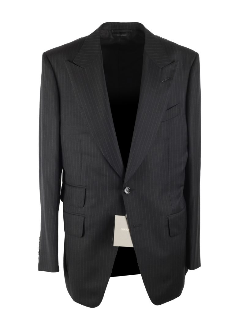 TOM FORD Atticus Striped Gray Suit Size 54 / 44R U.S. Wool - thumbnail | Costume Limité