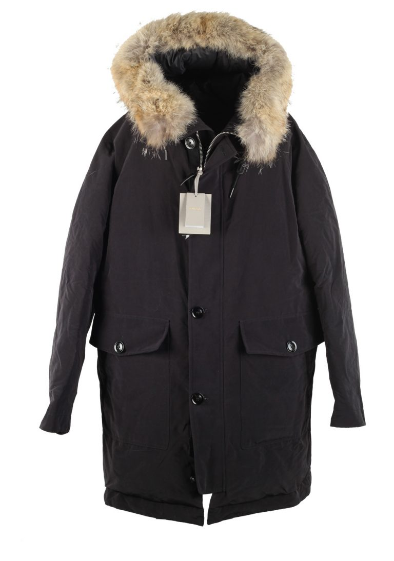 TOM FORD Black Mountain Parka Jacket Coat Size 54 / 44R U.S. Outerwear - thumbnail | Costume Limité