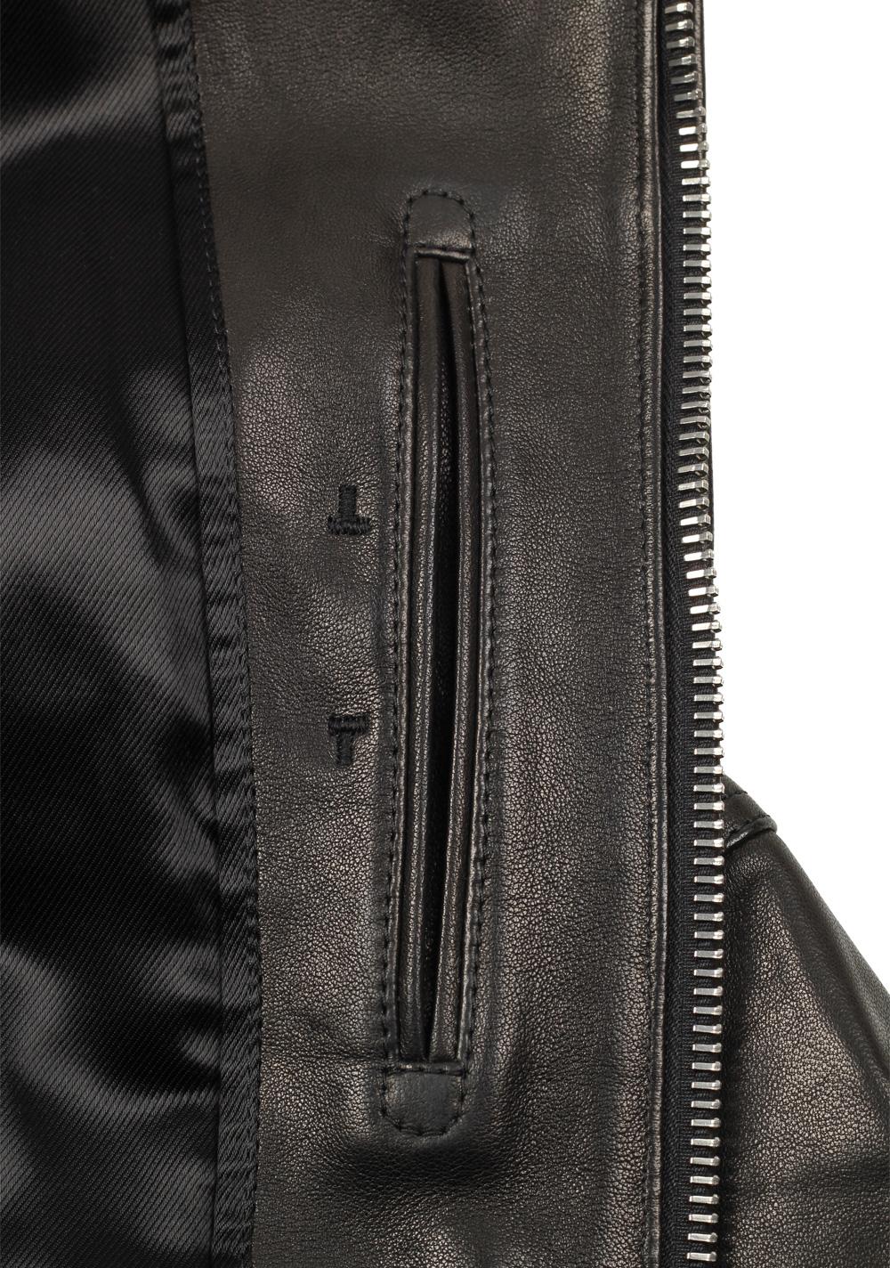 TOM FORD Leather Biker Jacket Coat Size 54 / 44R U.S. Outerwear | Costume Limité