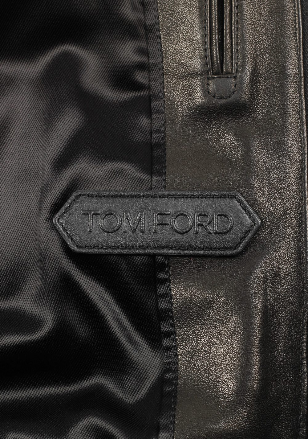 TOM FORD Leather Biker Jacket Coat Size 54 / 44R U.S. Outerwear | Costume Limité
