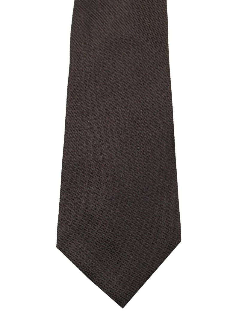 TOM FORD Patterned Brownish gray Tie In Silk - thumbnail | Costume Limité