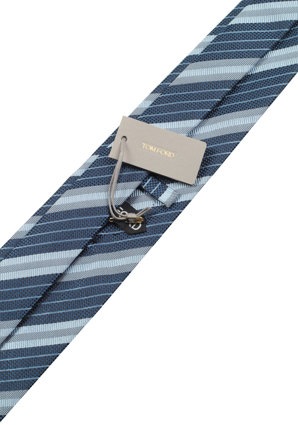 TOM FORD Striped Blue Tie In Silk | Costume Limité