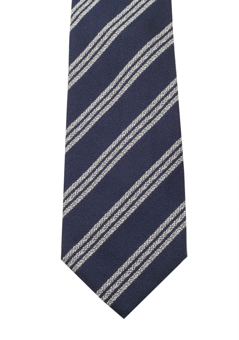 TOM FORD Striped Blue Tie In Silk - thumbnail | Costume Limité