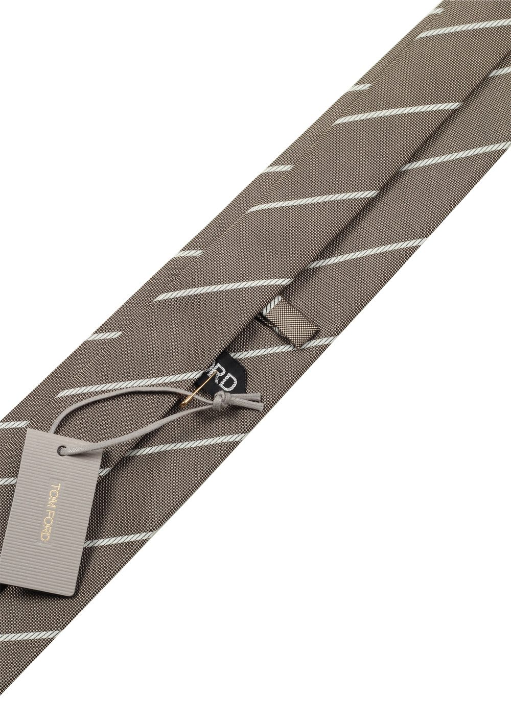 TOM FORD Patterned Brownish gray Tie In Silk | Costume Limité
