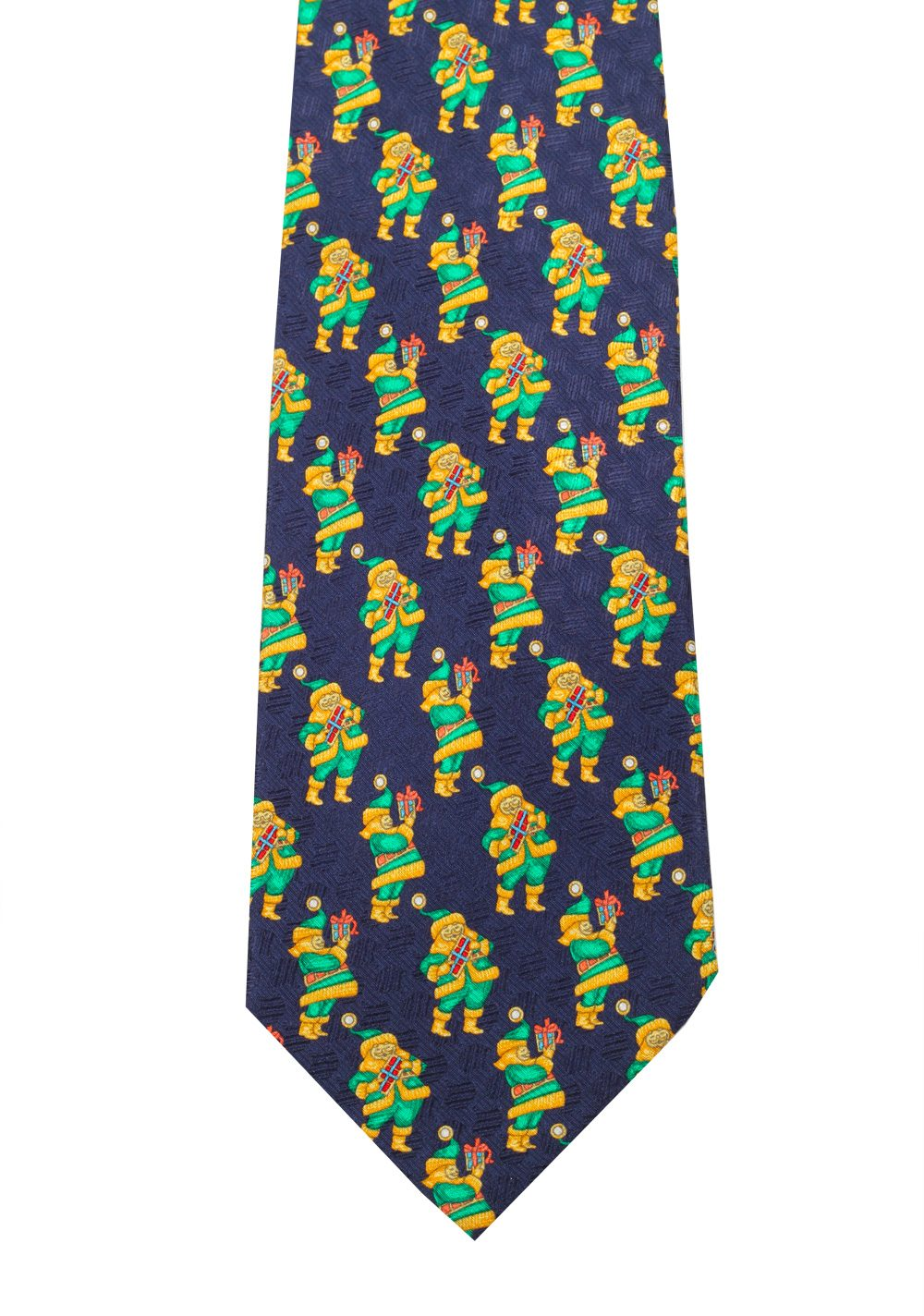 Zegna Patterned Blue Christmas Tie In Silk | Costume Limité