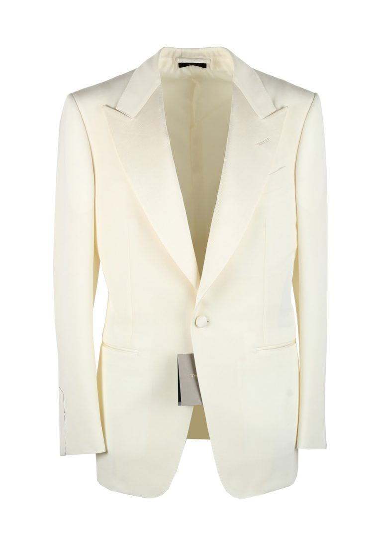 TOM FORD Windsor Ivory Signature Tuxedo Dinner Jacket Size 52 / 42R U.S. Fit A - thumbnail | Costume Limité