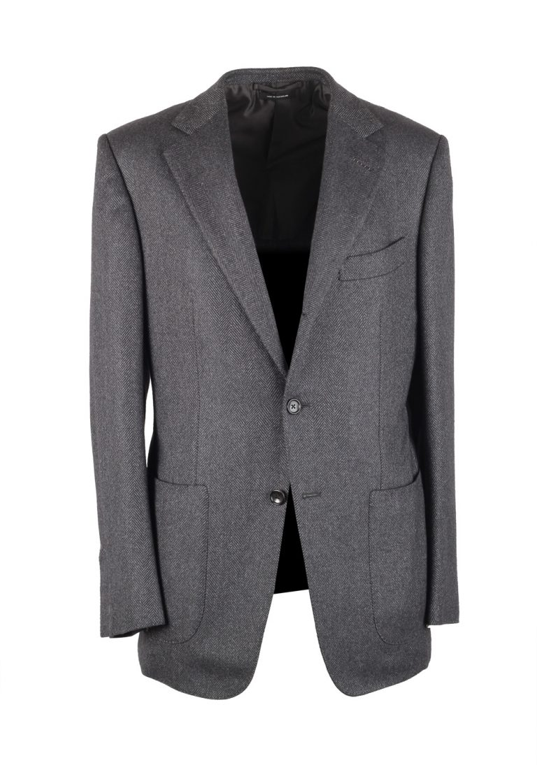 TOM FORD Regency Gray Sport Coat Size 48 / 38R U.S. Fit B Cashmere Silk - thumbnail | Costume Limité