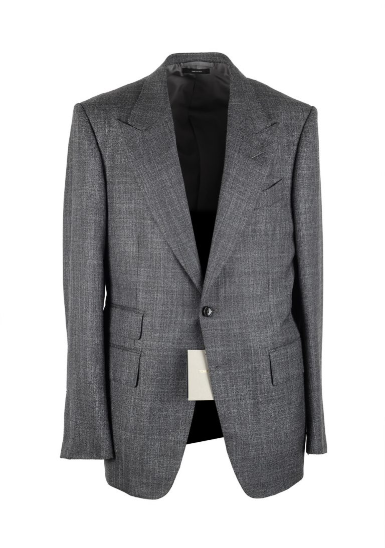 TOM FORD Shelton Gray Suit Size 50 / 40R U.S. In Wool Silk - thumbnail | Costume Limité