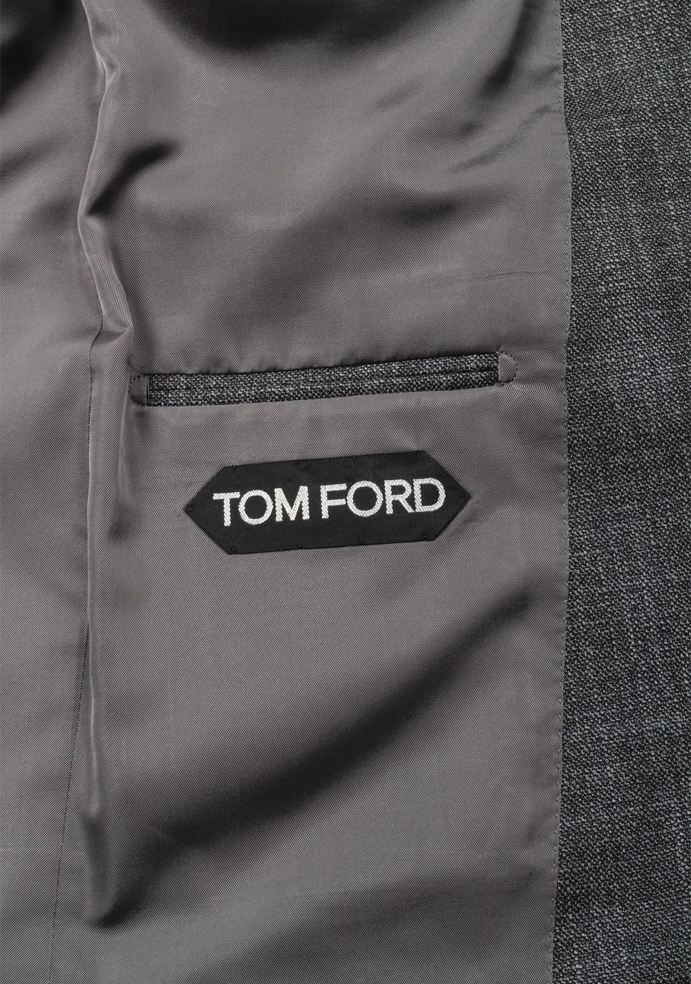 TOM FORD Shelton Gray Suit Size 50 / 40R U.S. In Wool Silk | Costume Limité