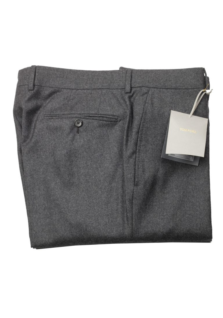 TOM FORD Gray Wool Cashmere Dress Trousers Size 58 / 42 U.S. - thumbnail | Costume Limité