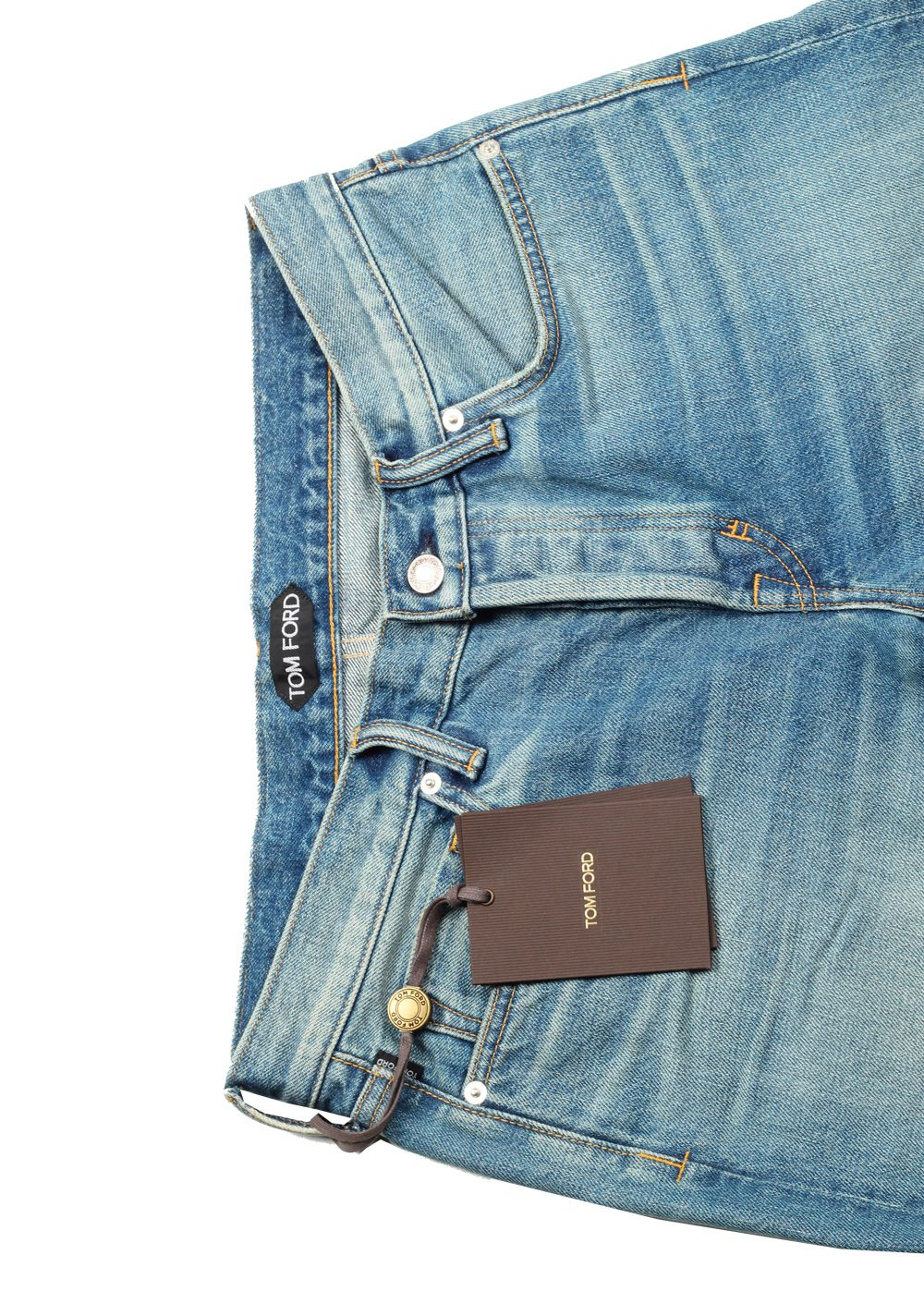 TOM FORD Blue Straight Jeans TFD002 Size 47 / 31 U.S. | Costume Limité