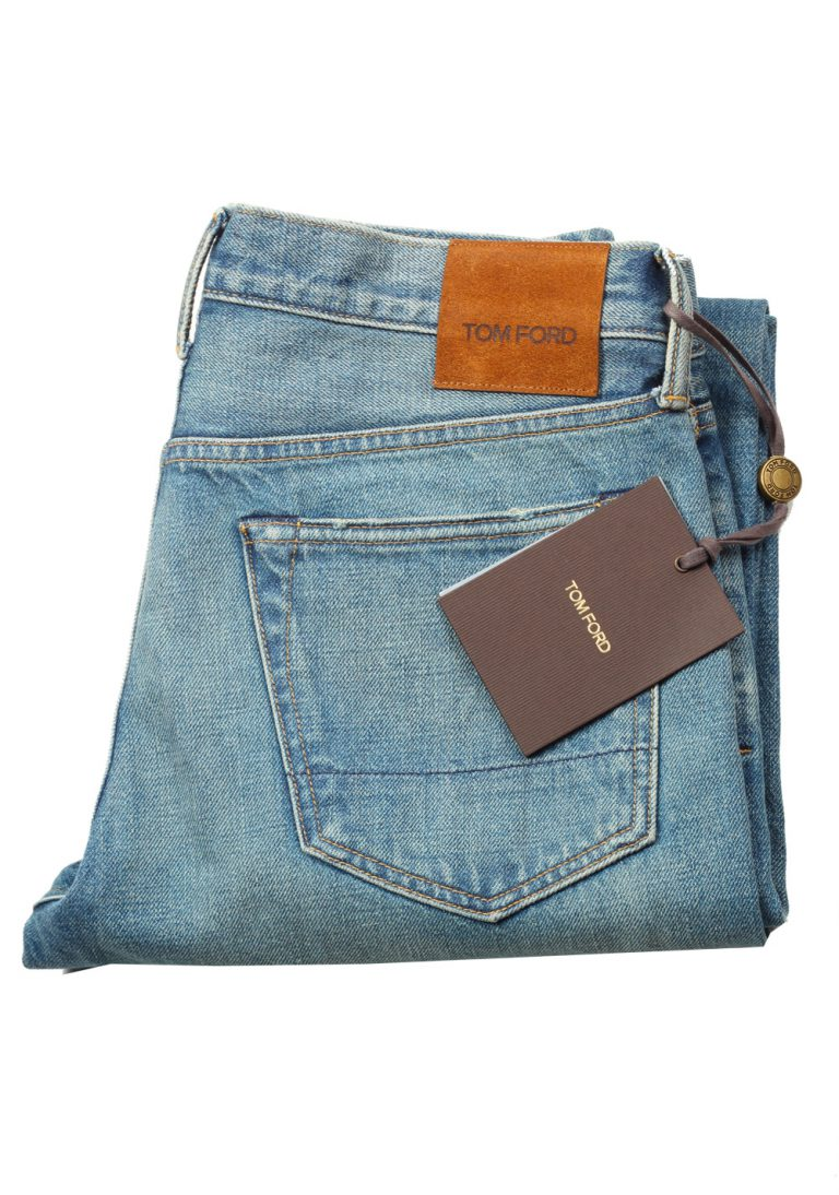 TOM FORD Blue Straight Jeans TFD002 Size 52 / 36 U.S. - thumbnail | Costume Limité