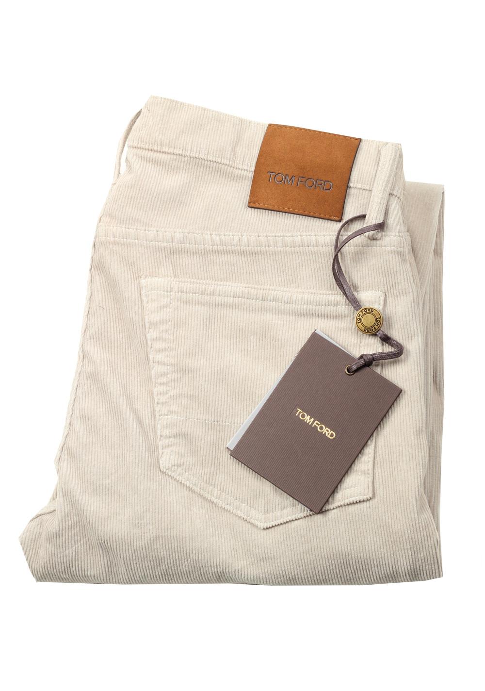 TOM FORD Slim Beige Jeans TFD001 Size 54 / 38 U.S.   Costume Limité