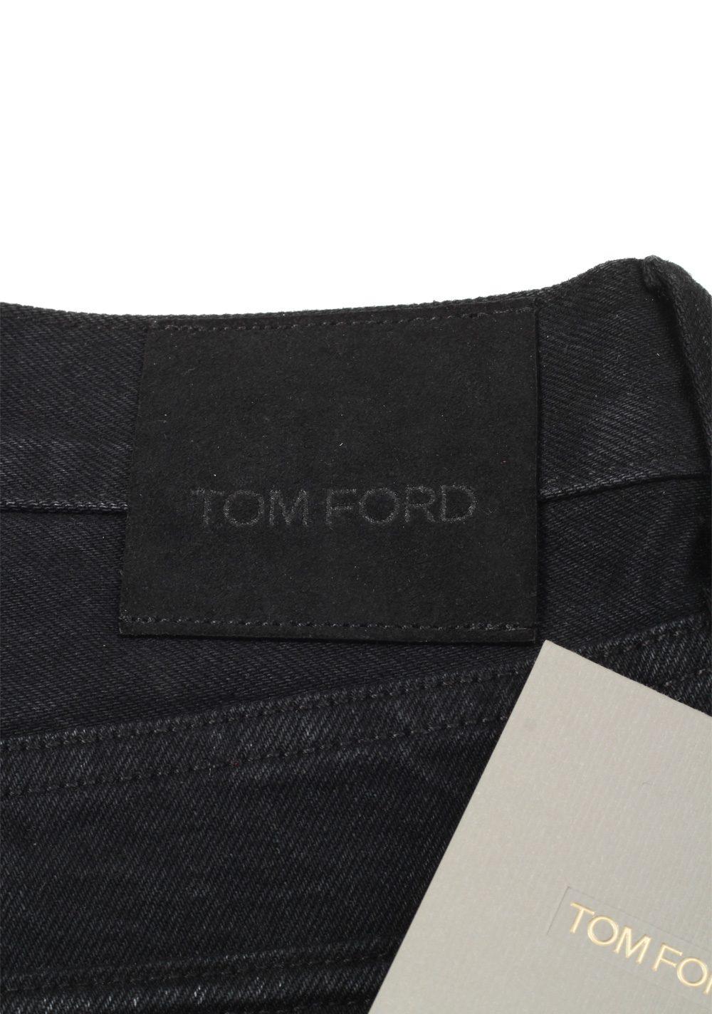 TOM FORD Black Straight Jeans TFD002 Size 46 / 30 U.S. | Costume Limité
