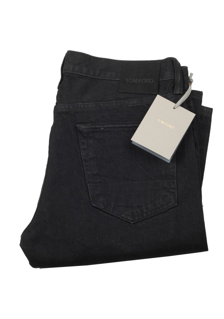 TOM FORD Black Straight Jeans TFD002 Size 48 / 32 U.S. - thumbnail | Costume Limité
