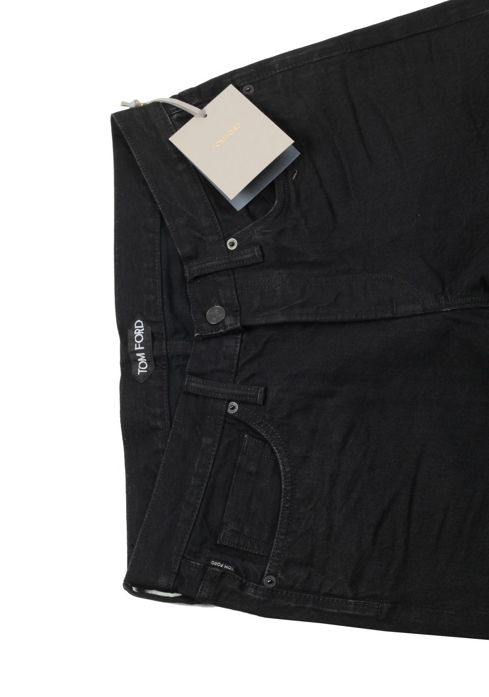 TOM FORD Black Straight Jeans TFD002 Size 48 / 32 U.S. | Costume Limité