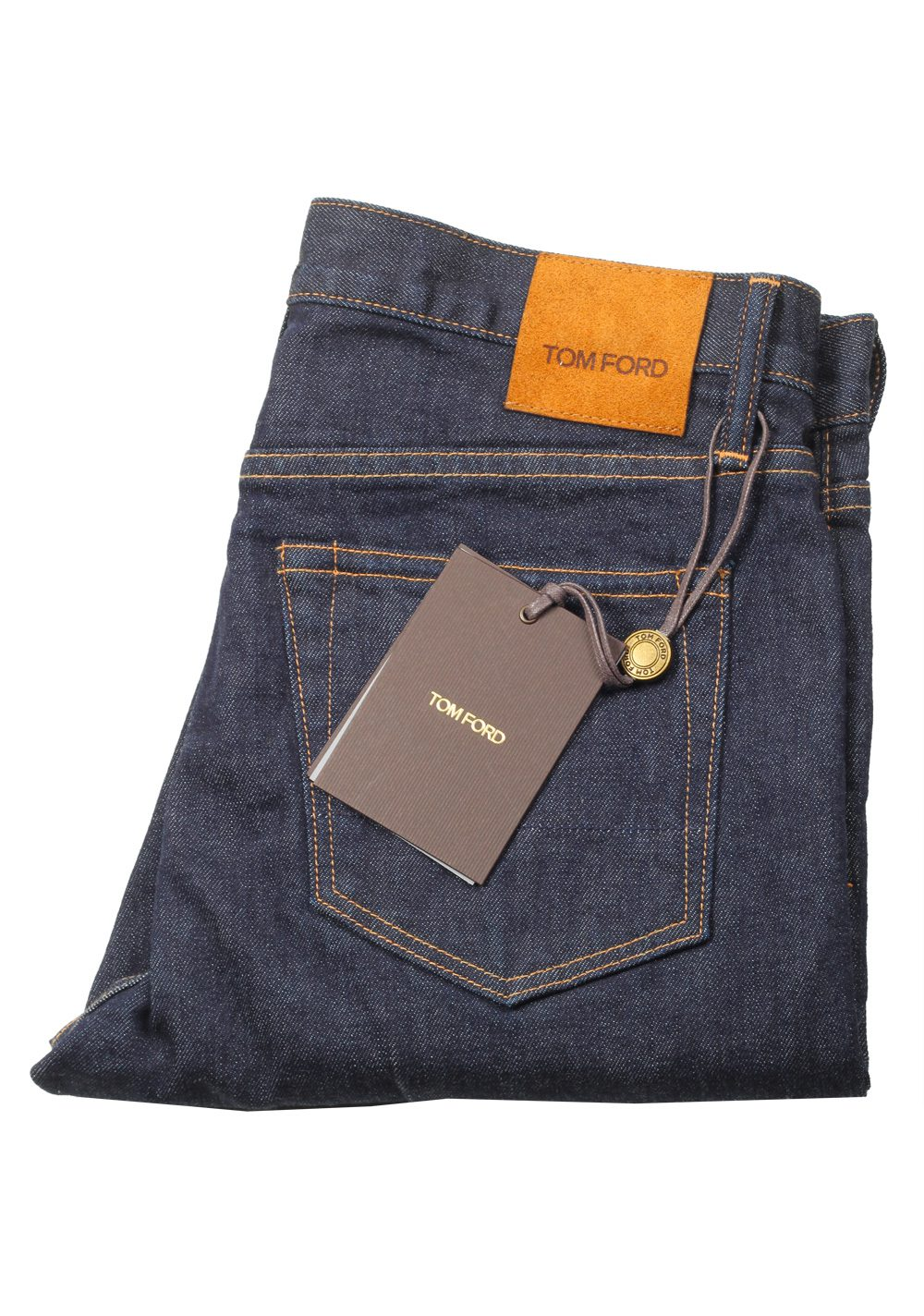 TOM FORD Blue Straight Jeans TFD002 Size 54 / 38 U.S. | Costume Limité