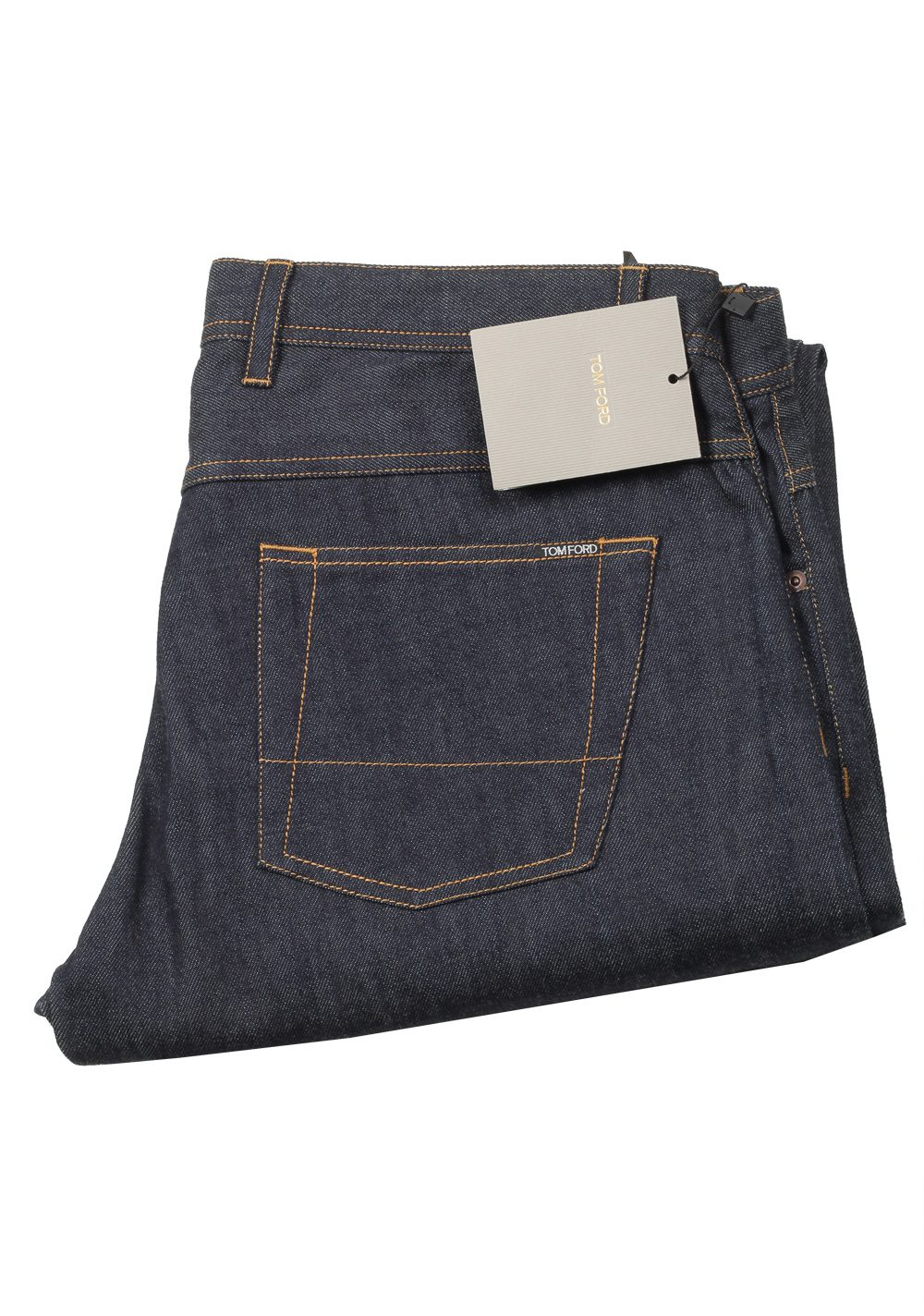 TOM FORD Blue Straight Jeans TFD003 Size 54 / 38 U.S. | Costume Limité