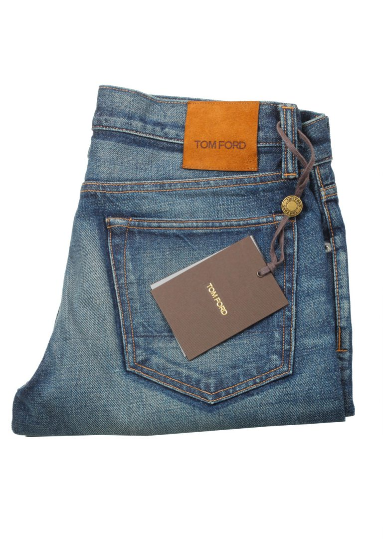 TOM FORD Blue Straight Jeans TFD002 Size 50 / 34 U.S. - thumbnail | Costume Limité