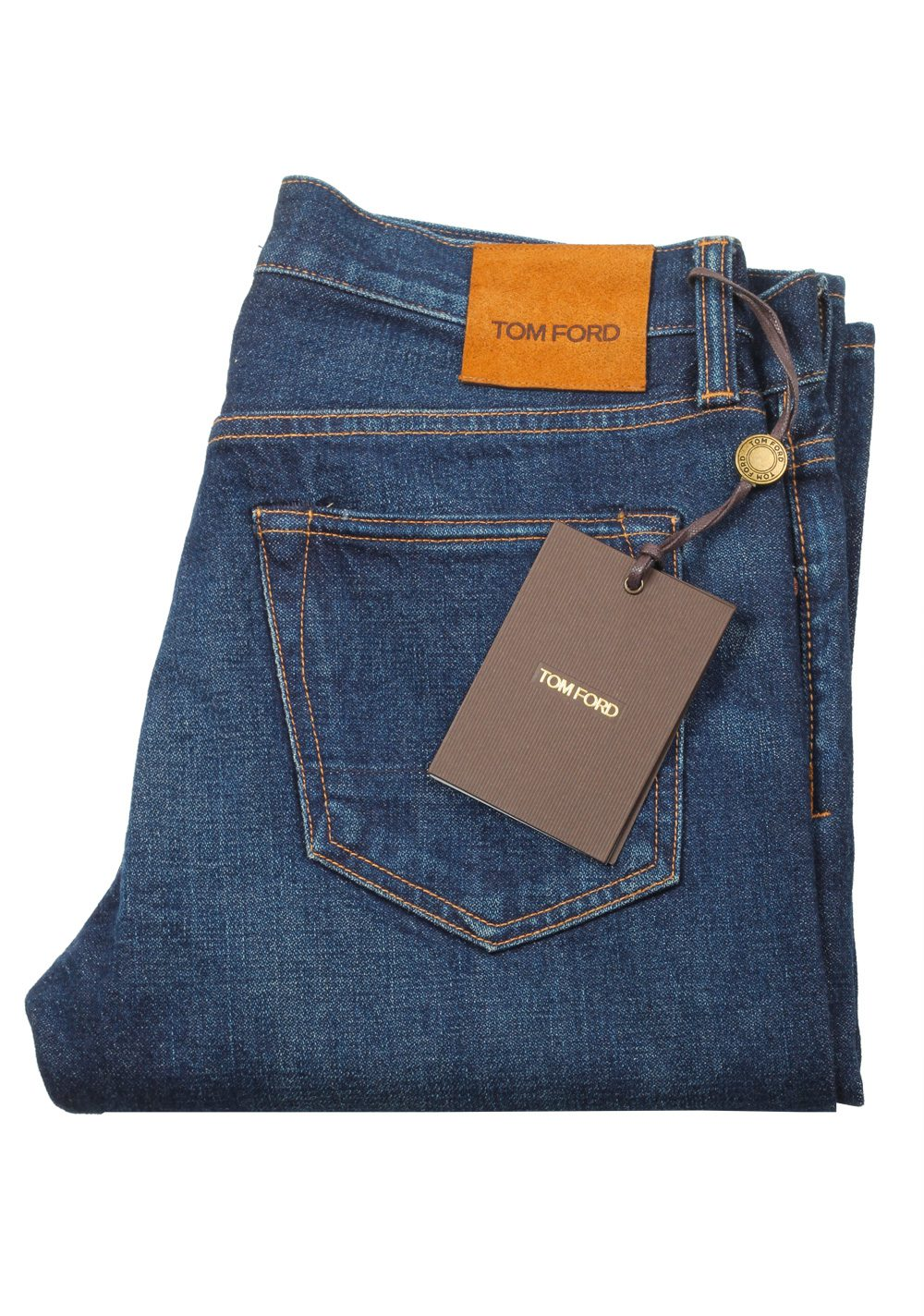 TOM FORD Blue Straight Jeans TFD002 Size 46 / 30 U.S. | Costume Limité