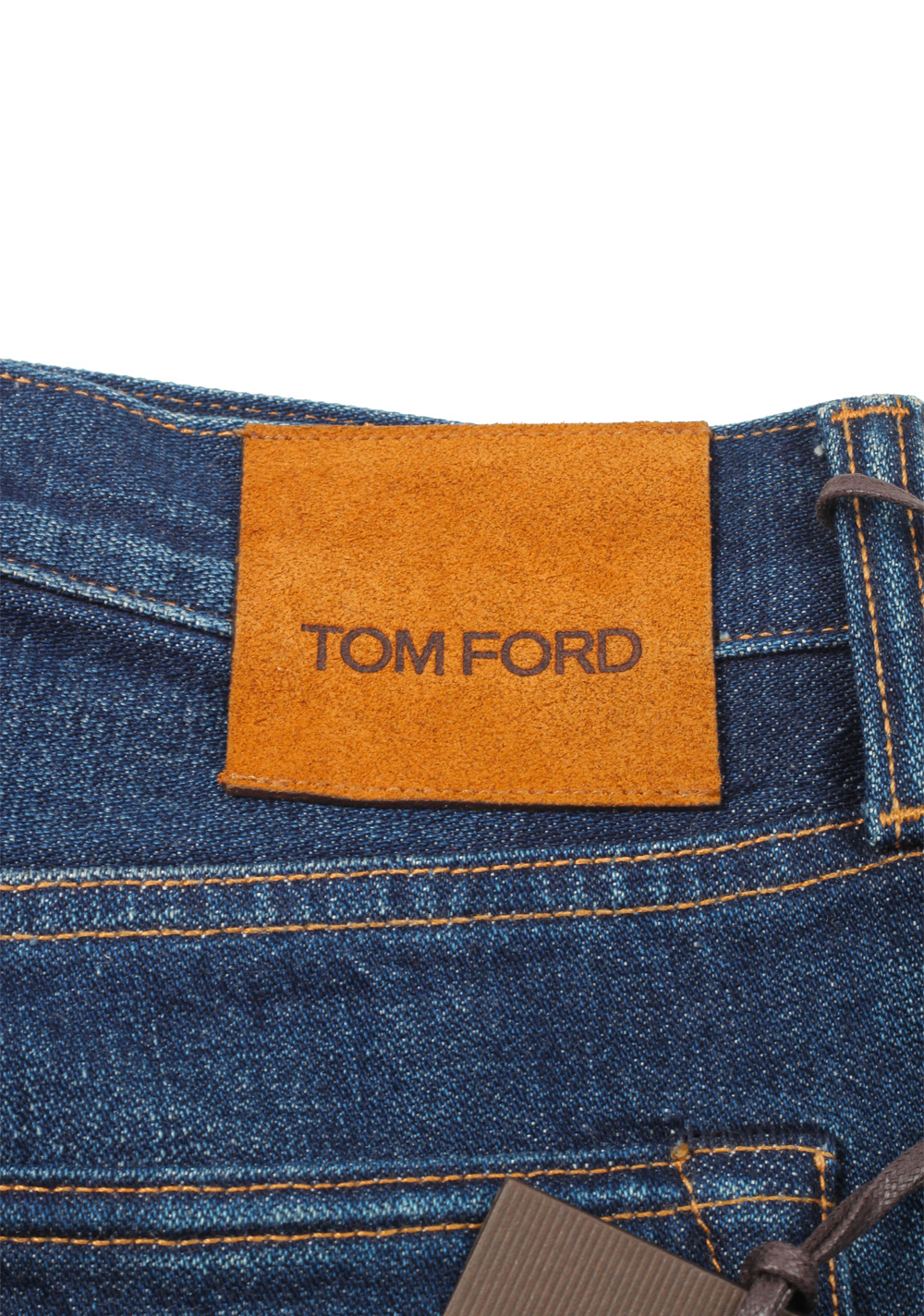 TOM FORD Blue Straight Jeans TFD002 Size 46 / 30 U.S.   Costume Limité