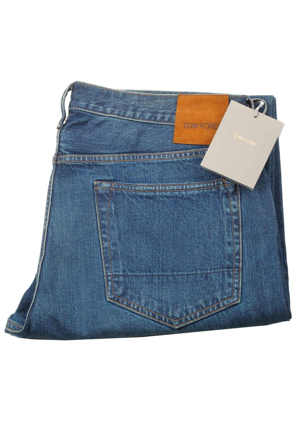 TOM FORD Blue Straight Jeans TFD002 Size 52 / 36 U.S. | Costume Limité