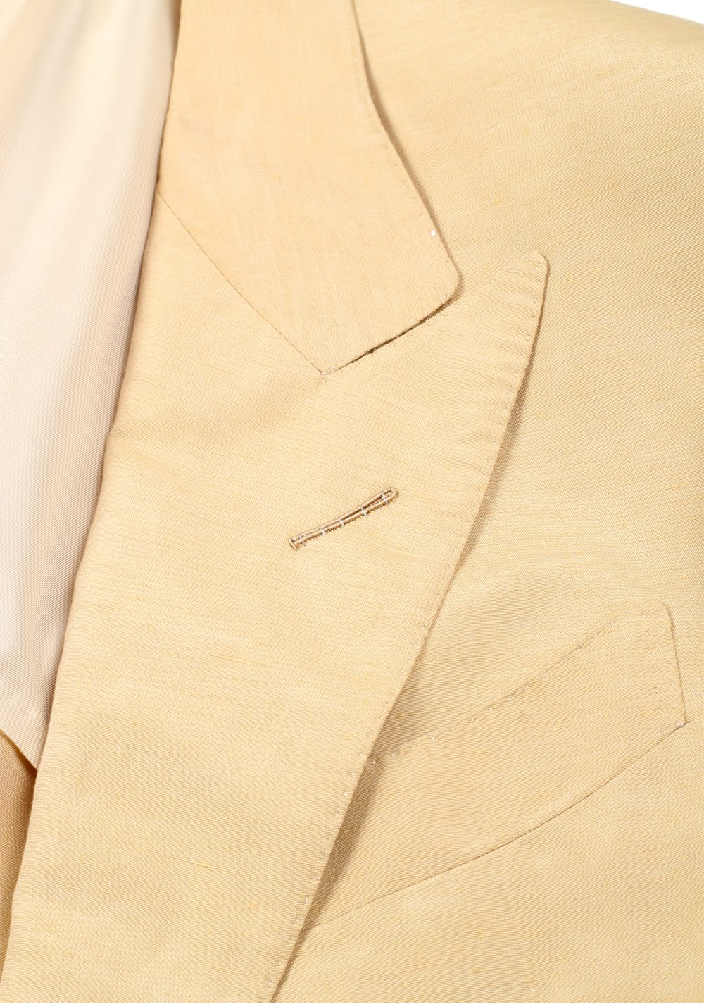 TOM FORD Shelton Beige Suit Size 48 / 38R U.S. In Linen Silk | Costume Limité