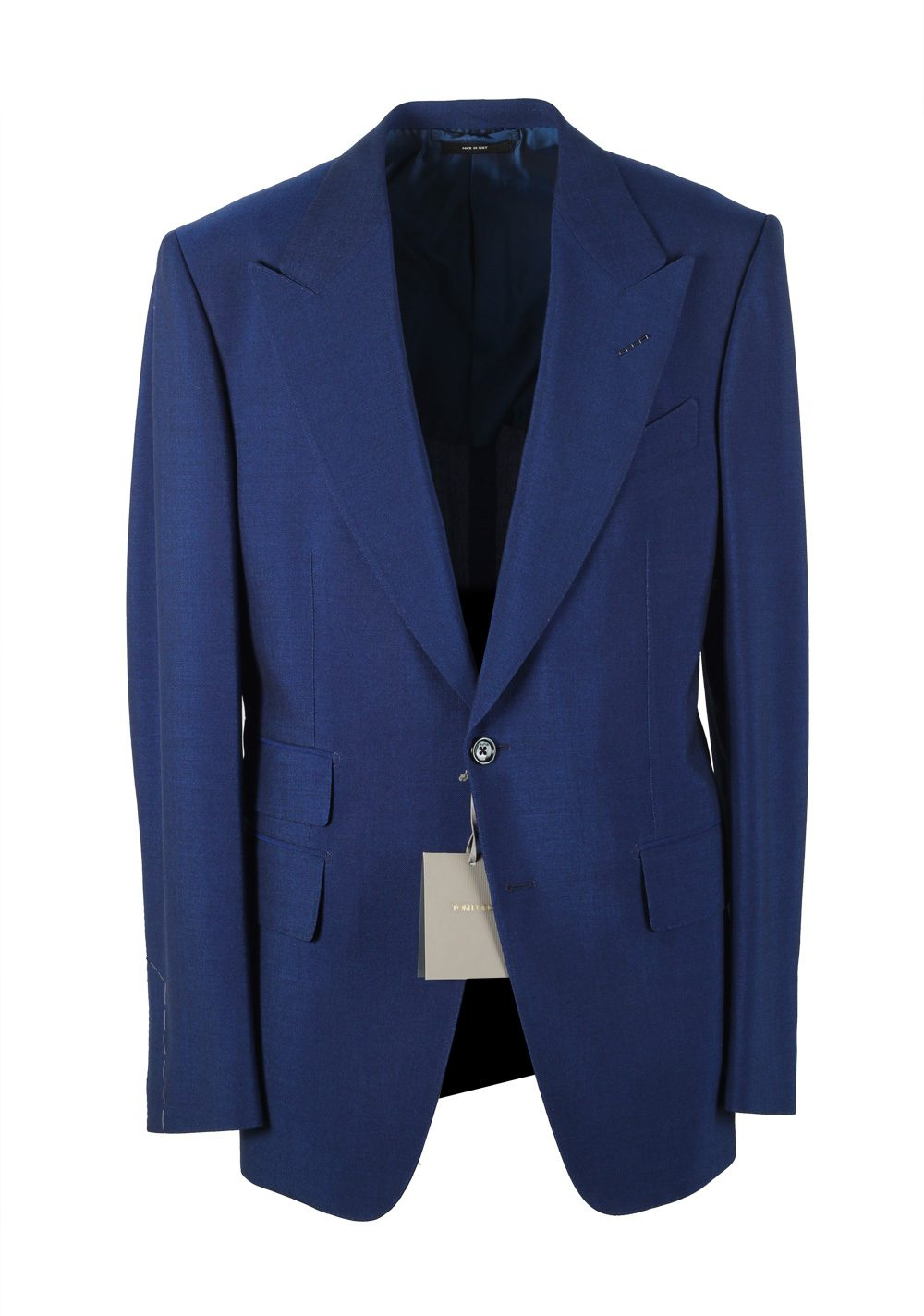 TOM FORD Shelton Blue Suit Size 50 / 40R U.S. In Mohair | Costume Limité