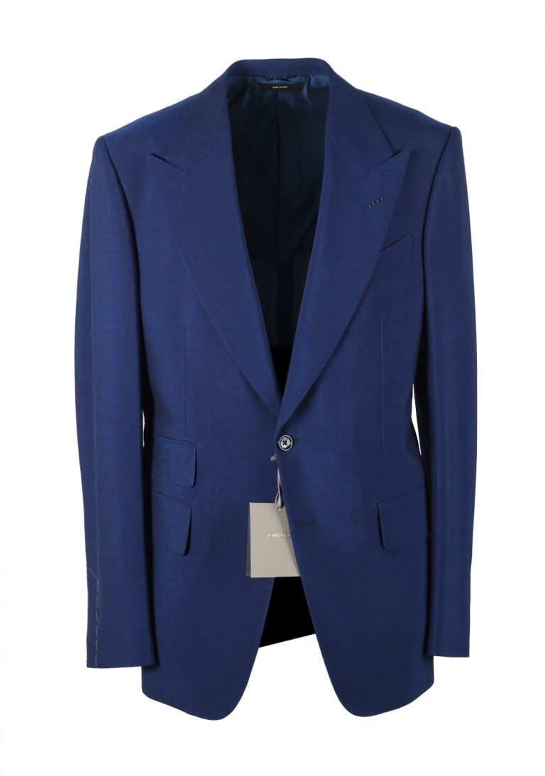 TOM FORD Shelton Blue Suit Size 50 / 40R U.S. In Mohair - thumbnail | Costume Limité