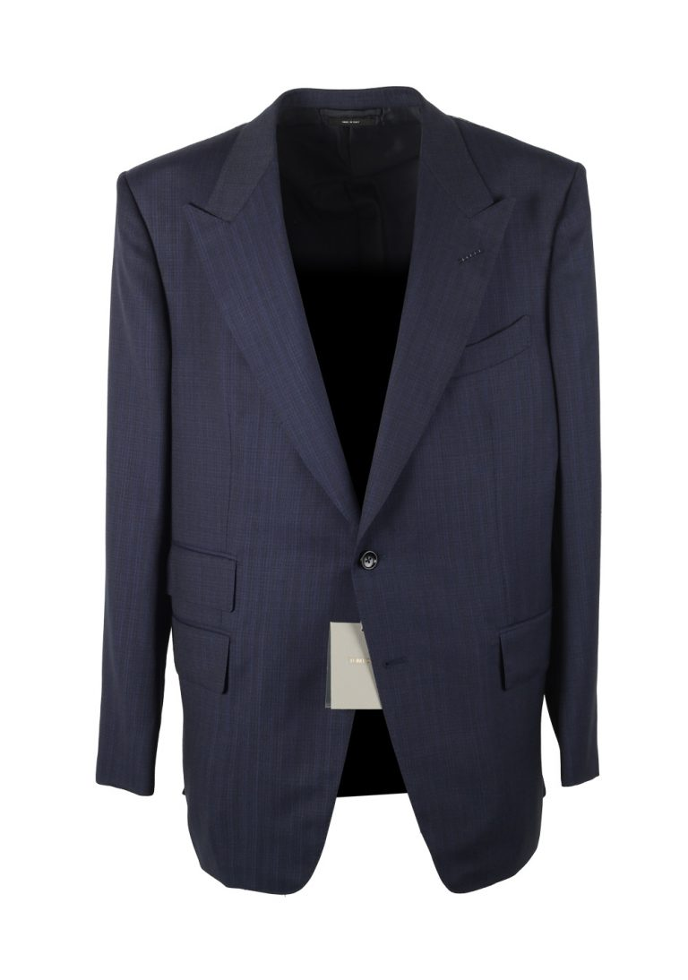 TOM FORD Windsor Blue Suit Size 58 / 48R U.S. Black Wool Fit A - thumbnail | Costume Limité