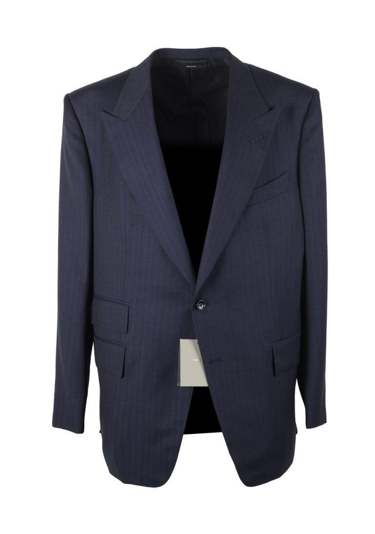 TOM FORD Windsor Blue Suit Size 58 / 48R U.S. Black Wool Fit A - thumbnail | Costume Limité
