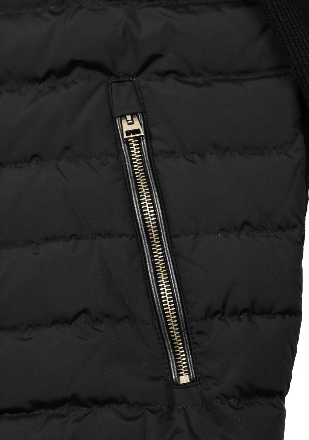TOM FORD Black James Bond Spectre Knitted Sleeve Bomber Jacket  Size 48 / 38R U.S. | Costume Limité