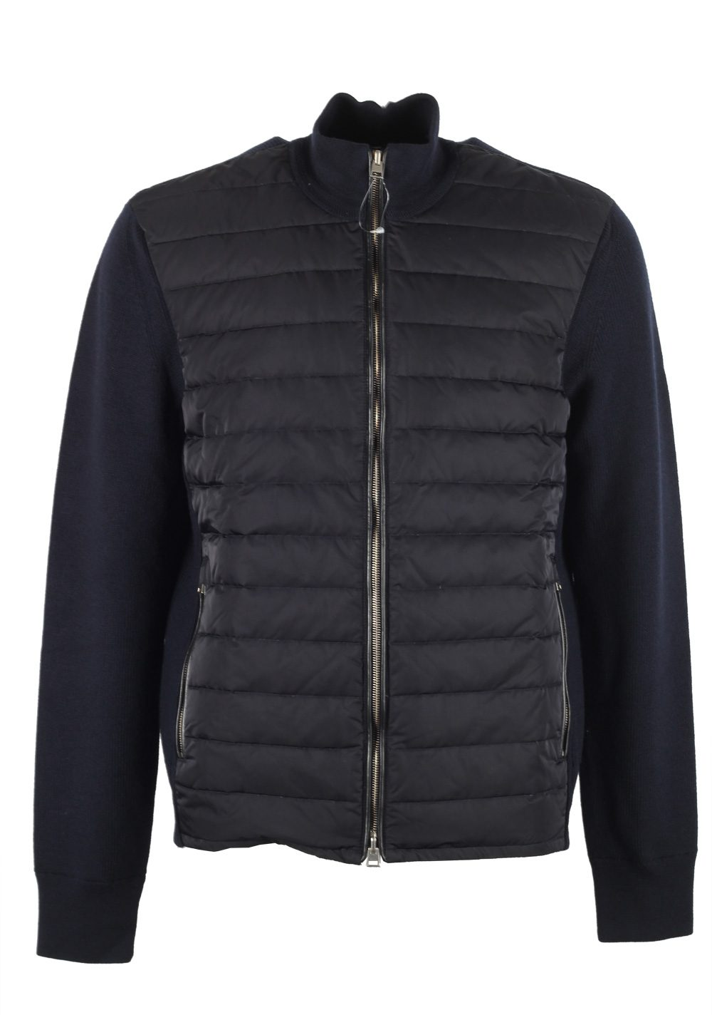 TOM FORD Blue James Bond Spectre Knitted Sleeve Bomber Jacket | Costume Limité
