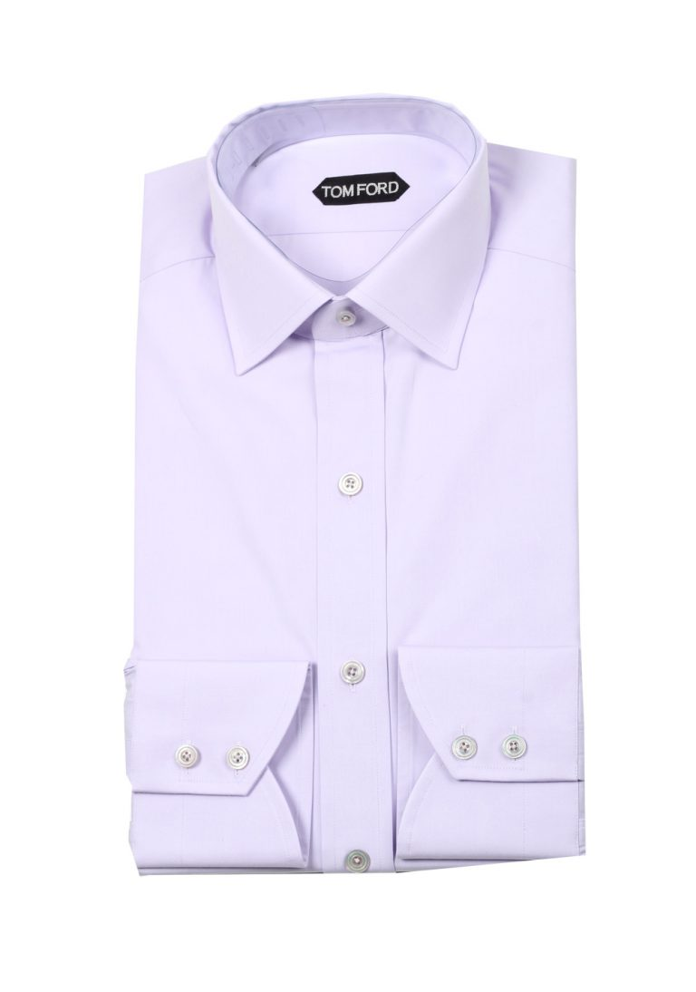 TOM FORD Solid Lilac Dress Shirt Size 38 / 15 U.S. Slim Fit - thumbnail | Costume Limité