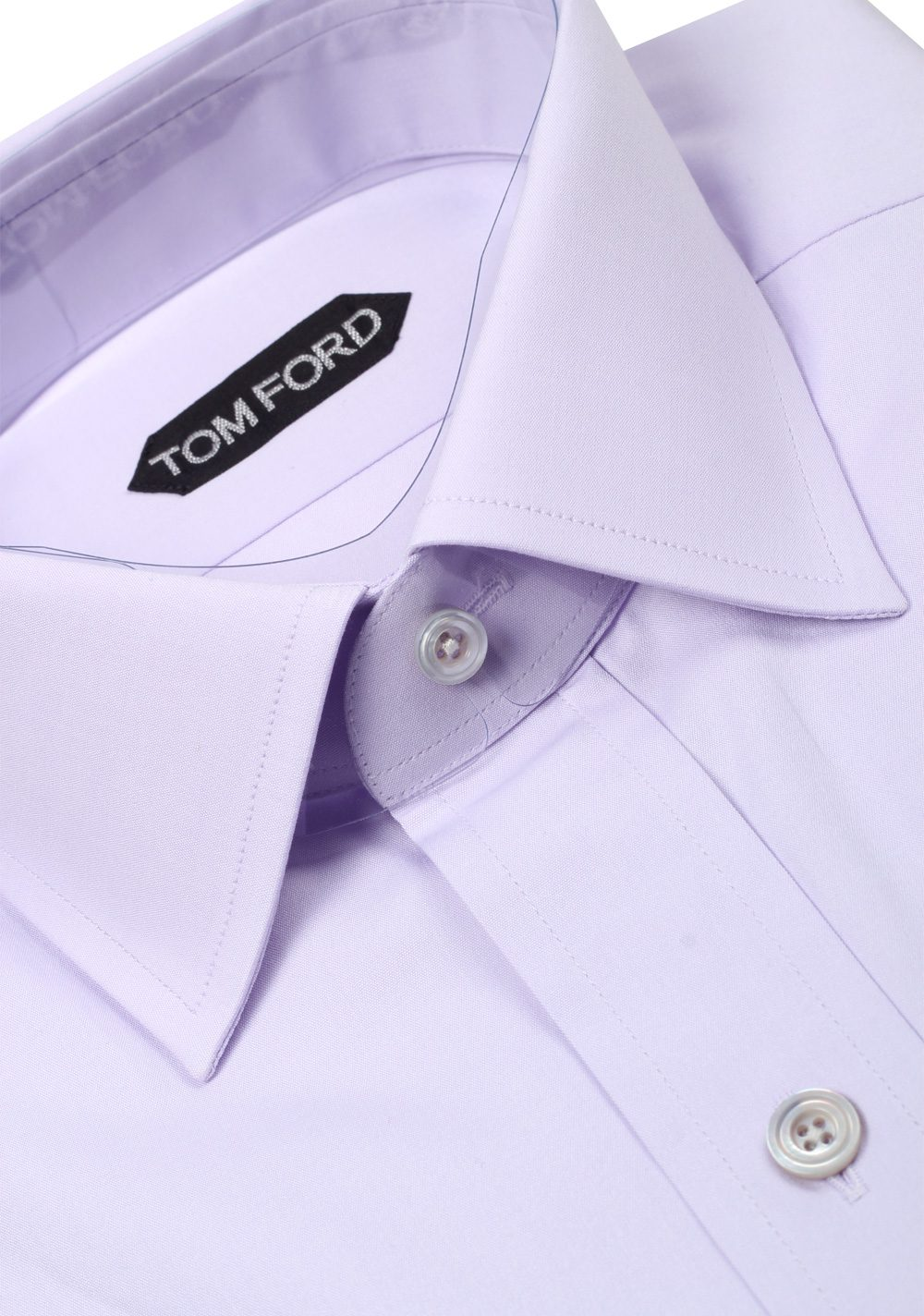 d03025eae933 TOM FORD Solid Lilac Dress Shirt Size 38 / 15 U.S. Slim Fit   Costume Limité