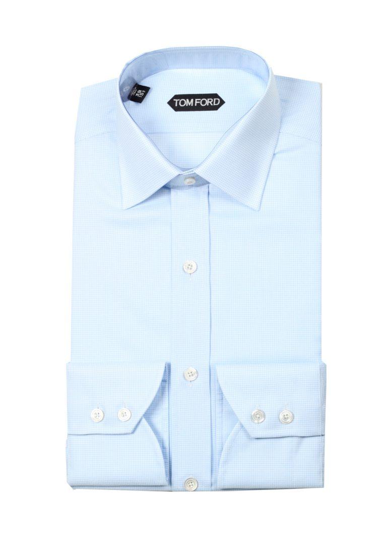 TOM FORD Patterned Blue Dress Shirt Size 39 / 15,5 U.S. Slim - thumbnail | Costume Limité