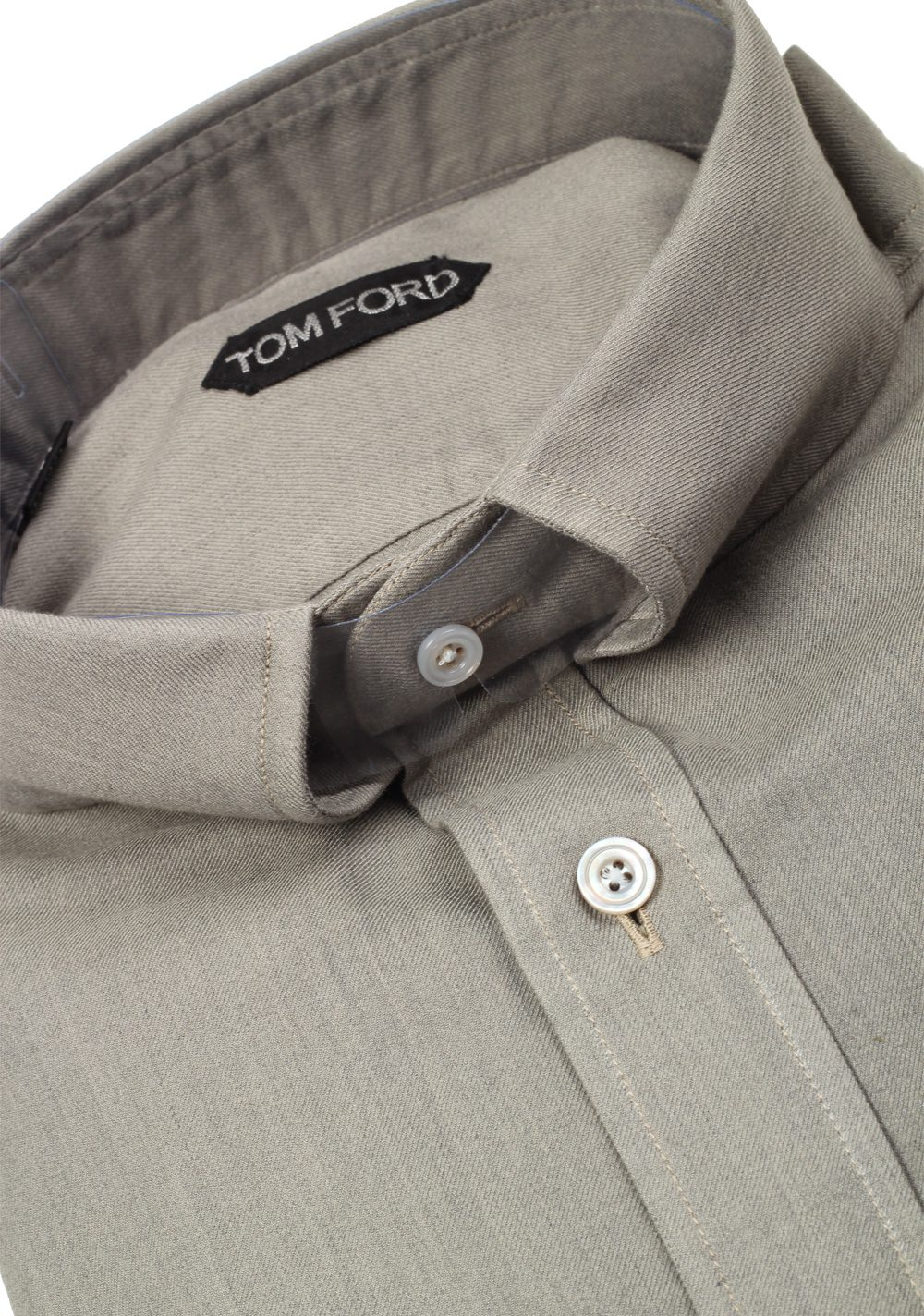 TOM FORD Solid Gray Casual Shirt Size 42 / 16,5 U.S. | Costume Limité