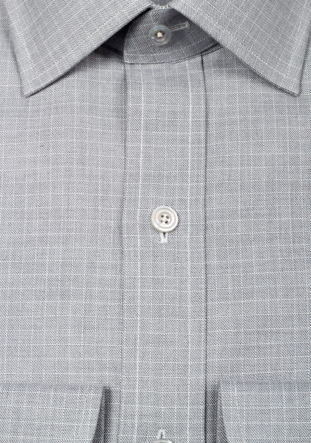TOM FORD Patterned Gray Dress Shirt Size 43 / 17 U.S. | Costume Limité