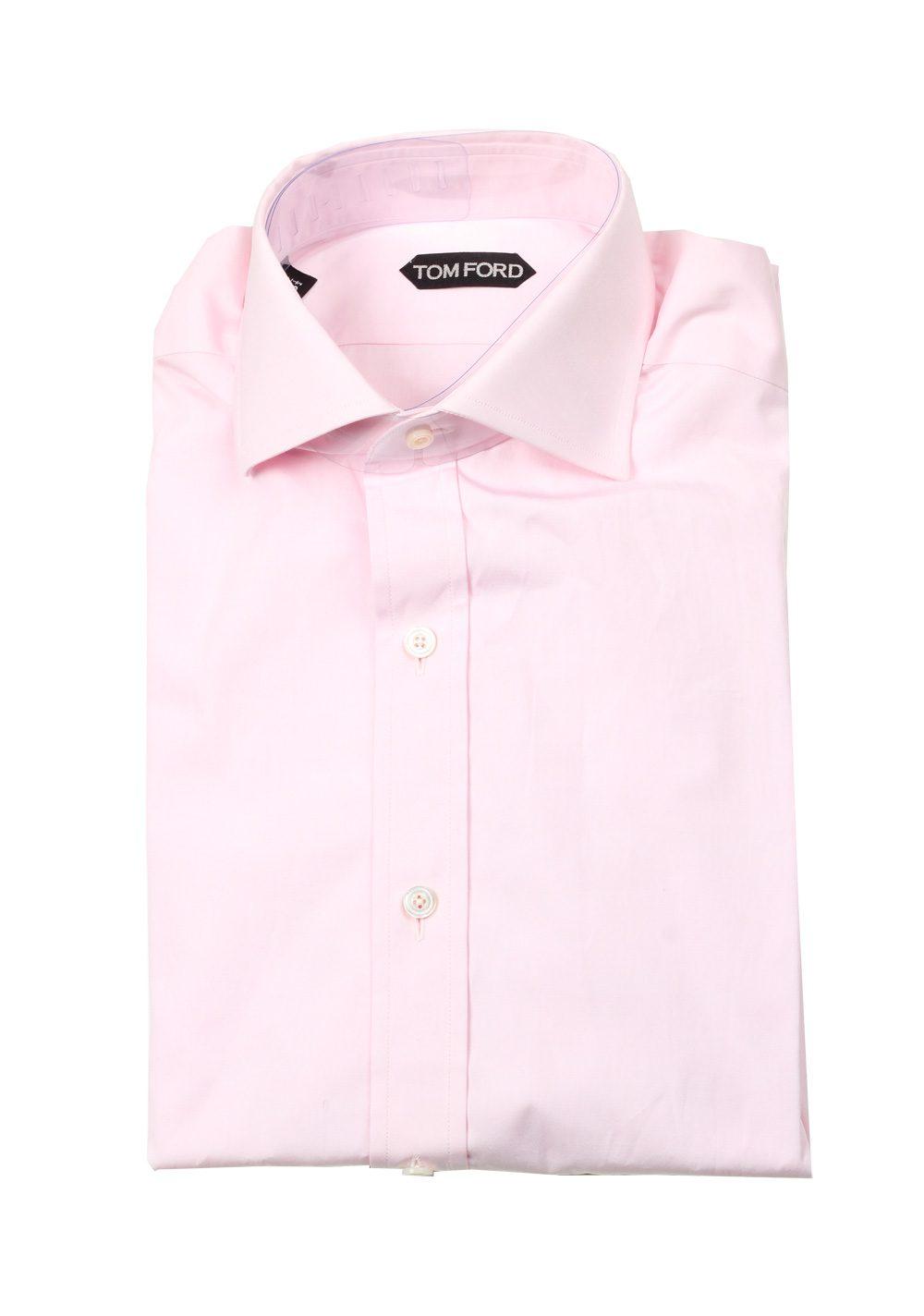 TOM FORD Solid Pink Dress Shirt Size 44 / 17,5 U.S. | Costume Limité