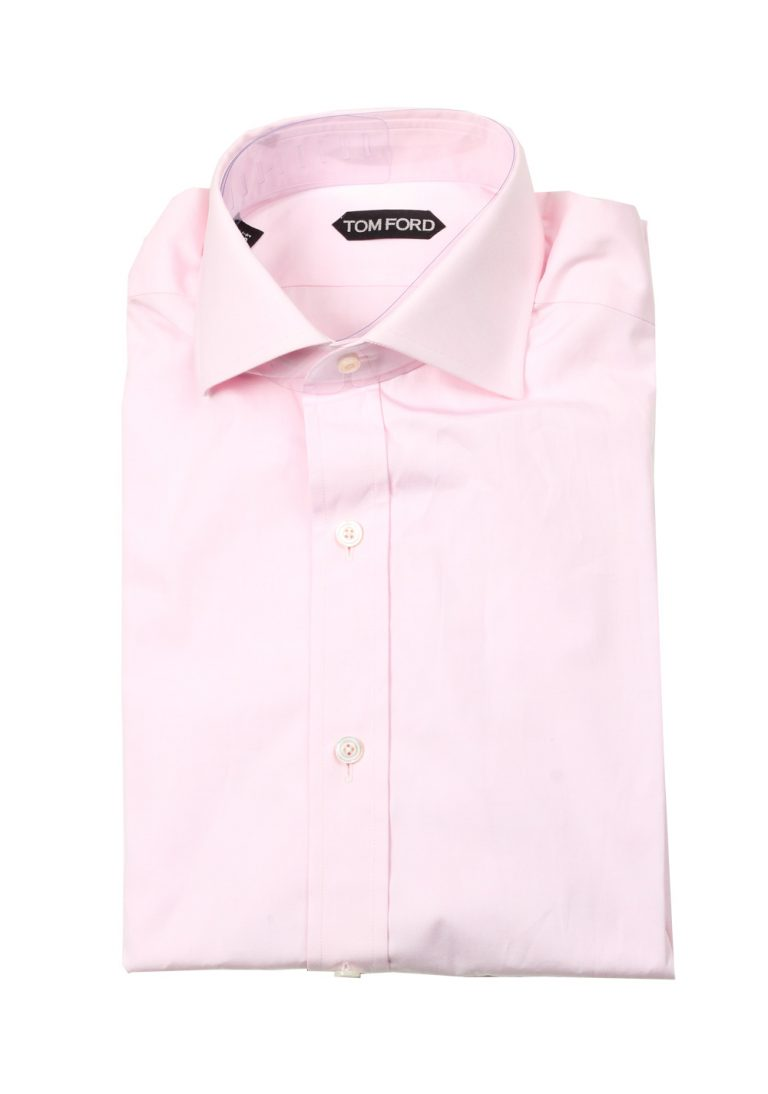 TOM FORD Solid Pink Dress Shirt Size 44 / 17,5 U.S. - thumbnail | Costume Limité