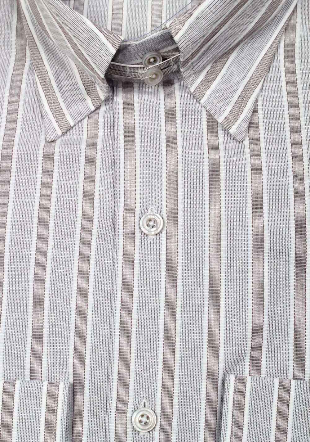 TOM FORD Striped Gray High Collar Dress Shirt Size 40 / 15,75 U.S. | Costume Limité