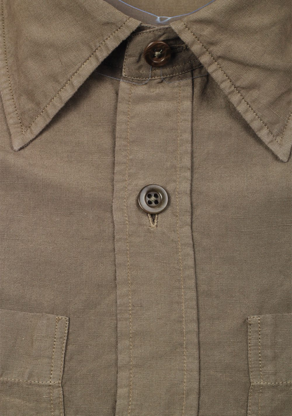 TOM FORD Solid Brown Casual Shirt Size 40 / 15,75 U.S. | Costume Limité