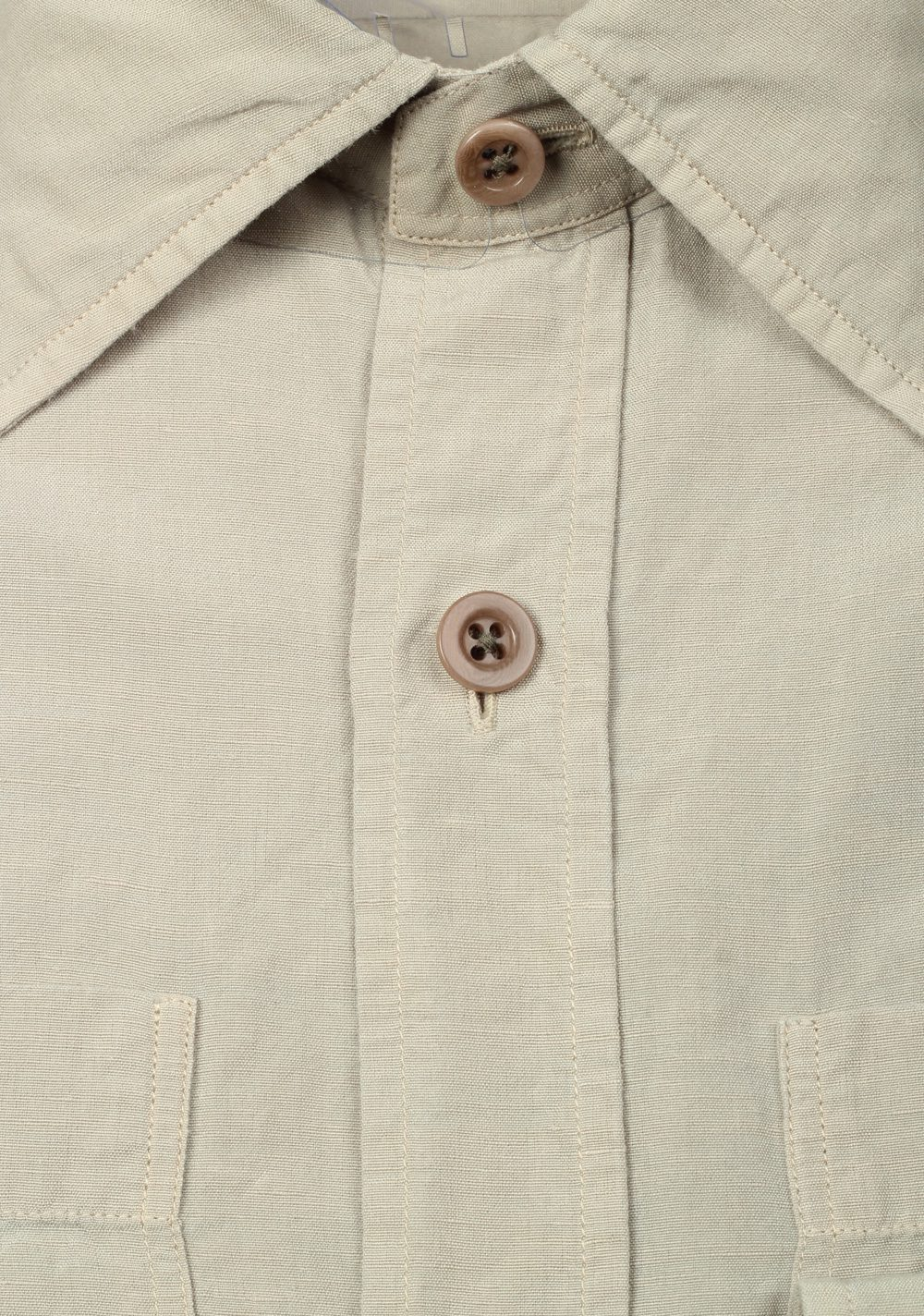 TOM FORD Solid Beige Casual Shirt Size 40 / 15,75 U.S. | Costume Limité
