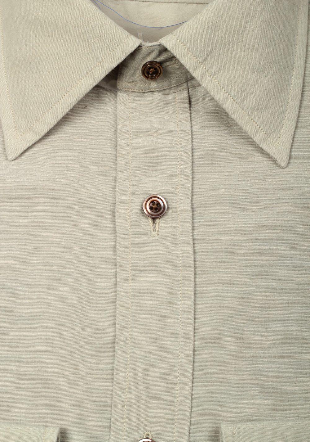 TOM FORD Solid Beige Dress Shirt Size 40 / 15,75 U.S. | Costume Limité