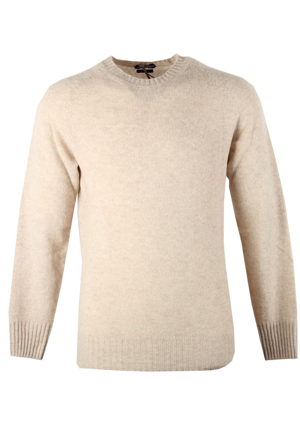 TOM FORD Beige Crew Neck Sweater Size 48 / 38R U.S. In Cashmere Blend | Costume Limité