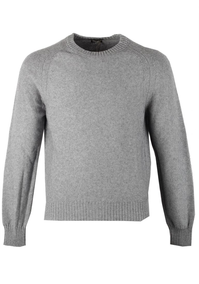 TOM FORD Gray Crew Neck Sweater Size 48 / 38R U.S. In Cashmere Blend - thumbnail | Costume Limité