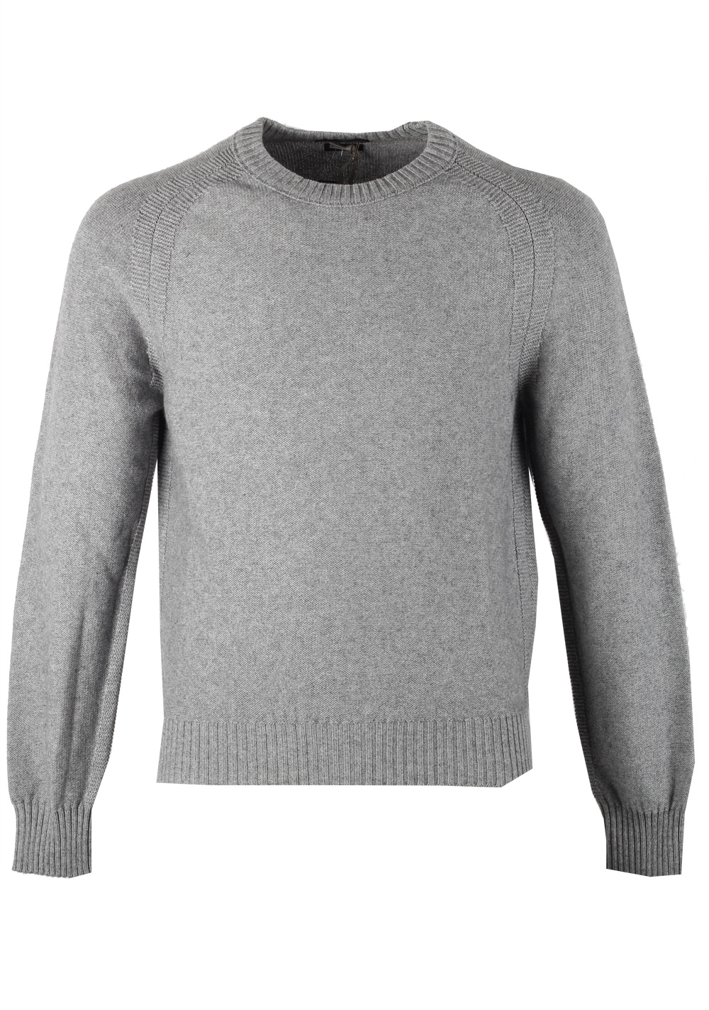 TOM FORD Gray Crew Neck Sweater Size 48 / 38R U.S. In Cashmere Blend | Costume Limité