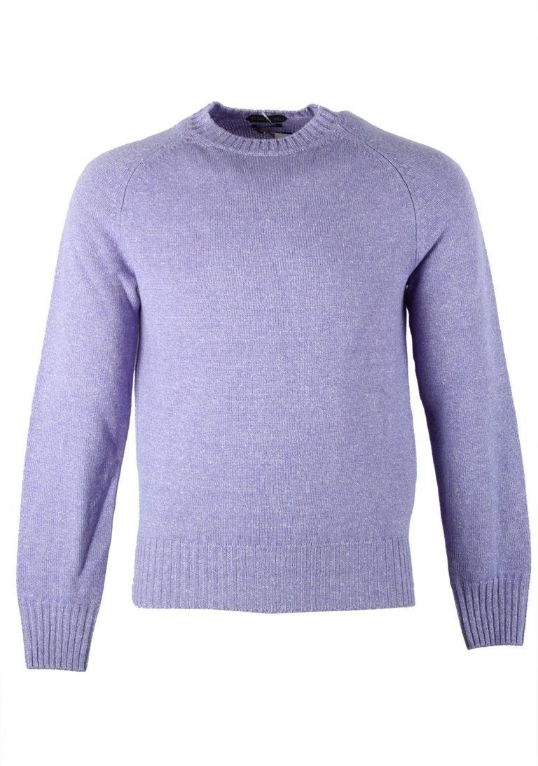 TOM FORD Lilac Crew Neck Sweater Size 48 / 38R U.S. In Cashmere Blend - thumbnail | Costume Limité