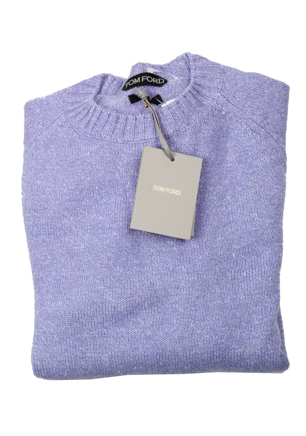 TOM FORD Lilac Crew Neck Sweater Size 48 / 38R U.S. In Cashmere Blend | Costume Limité