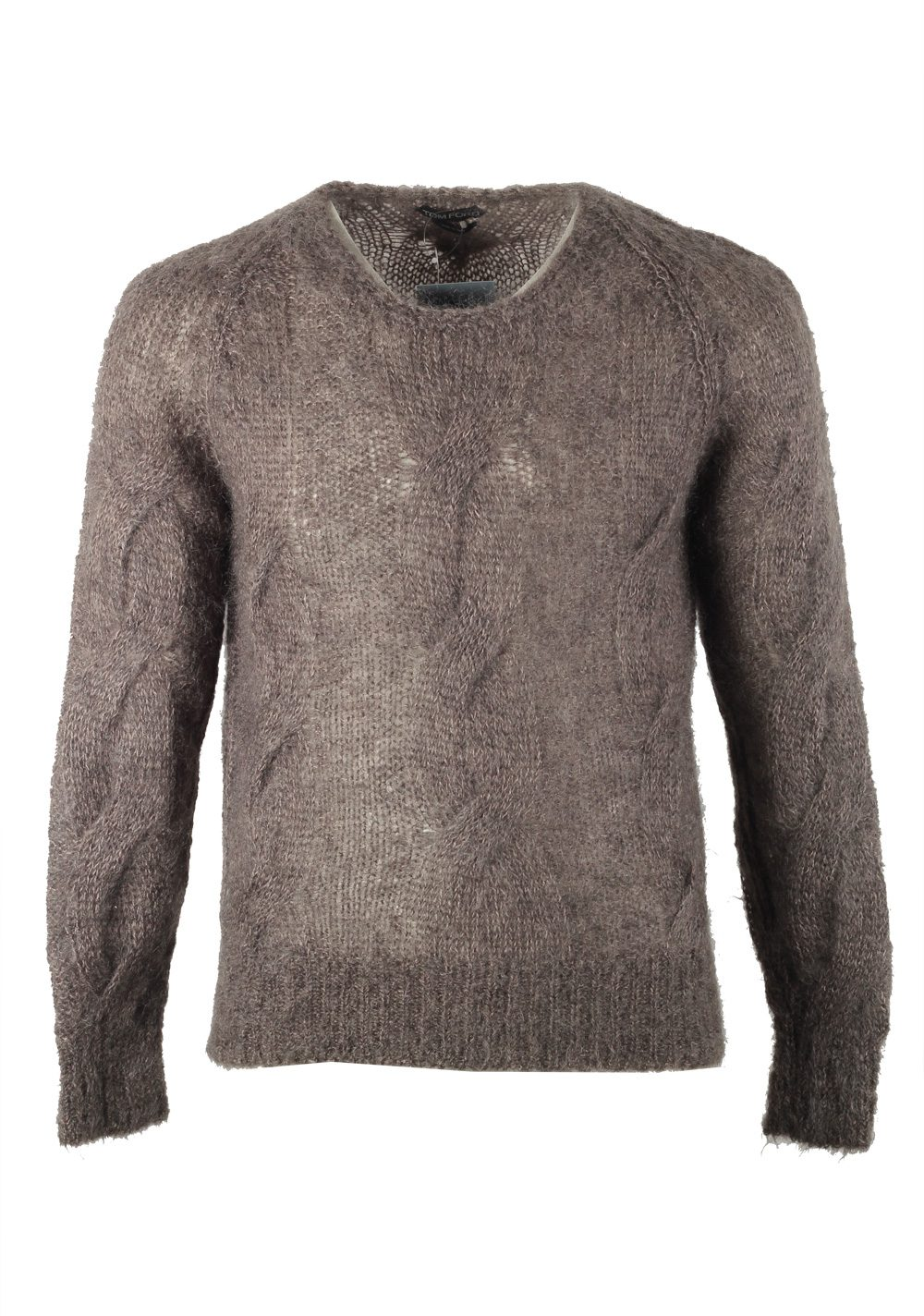 TOM FORD Brown Crew Neck Sweater Size 50 / 40R U.S. In Mohair Blend | Costume Limité